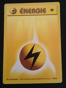 MINT 98//102 1ère édition Set de base Carte POKEMON ENERGIE FEU