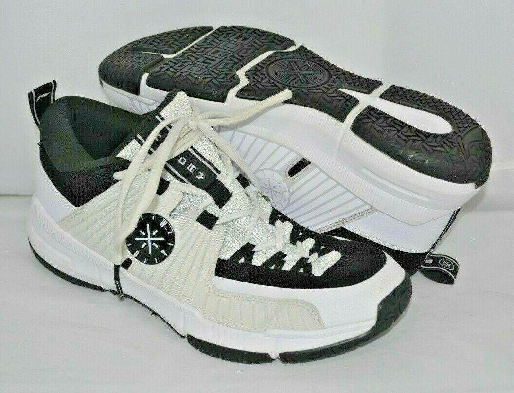Li-ning Wade All Day Basketball Shoes white Black ABPN017-1 11