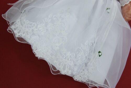 Taufkleid Festkleid Kleid Taufgewand Taufe Hochzeit festlich Neu Nr.0le10s