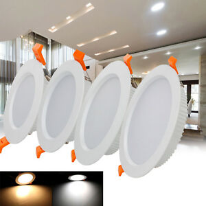 Details About Recessed Led Ceiling Light Fixture Downlight Bulb 7w 9w 12w 24w 30w Lamp St 10