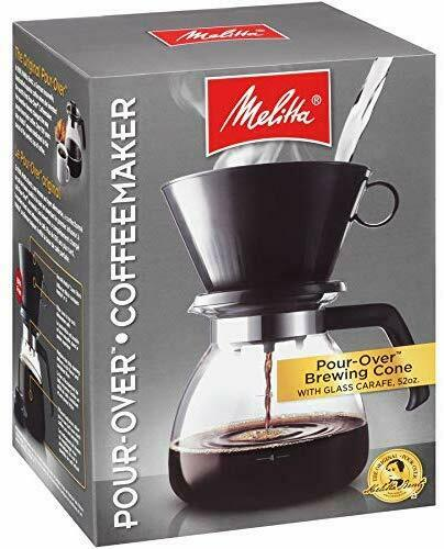 Melitta 10-Cup Pour Over Coffee Brewer w// Glass Carafe