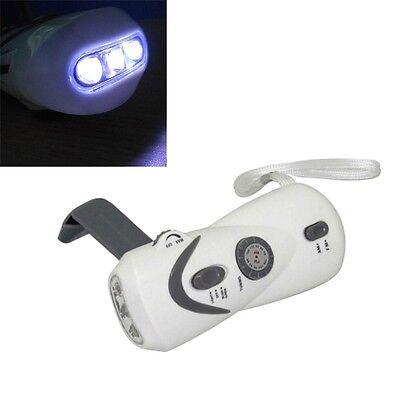 Crank Dynamo Emergency LED Flashlight FM/AM Radio Mobile Phone Charger ZP