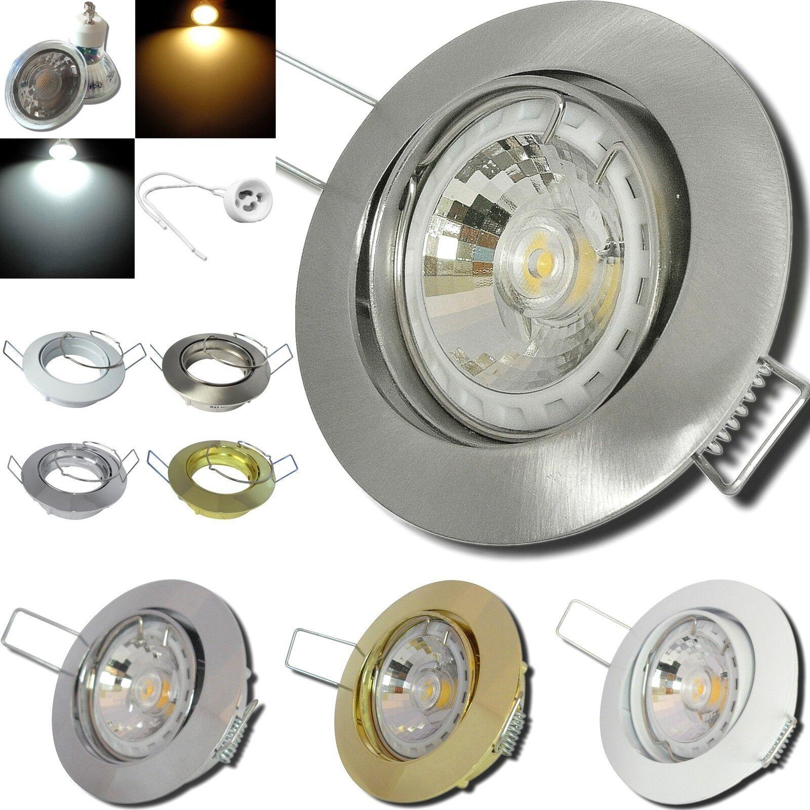 LED Einbauspots Fabian   5W   Alu   EEK A+   IP20   230Volt   Gu10    Federring