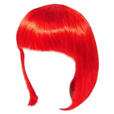 Economy Red Bob Wig ~ ADULT TEEN HALLOWEEN SHORT BOB COSTUME COSPLAY PARTY WIG