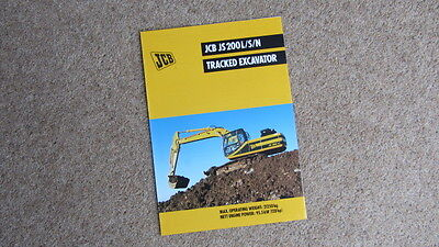 Tractor Manuals & Publications Business, Office & Industrial Jcb Js 200l/s/n Tracked Hydraulic Excavator Brochure 9999/4482 4/99 Circa 1999