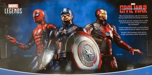 Marvel légendes guerre civile Movie 3-Pack Captain America Iron Man /& Spider-Man MCU