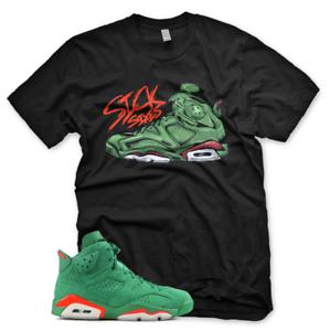 94070ae7ccb7 BLACK Sick Sixes T Shirt for Jordan 6 VI Gatorade GREEN Suede PRM Be ...