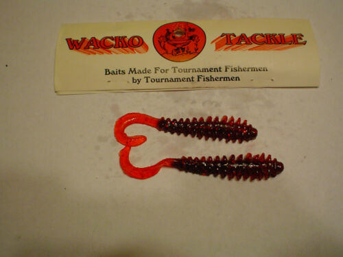 RED HOT 10 CT. WACKO TACKLE WEE WING WORM 4/""