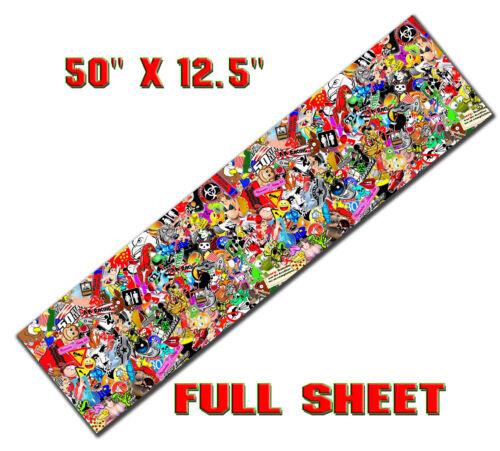 "1 STICKER BOMB SHEET JDM HONDA DECAL LONG 50/"" x 12.5/"" EACH 3M WRAP VINYL GLOSS"