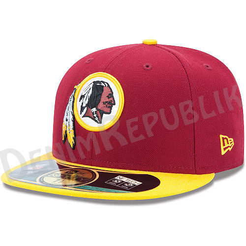 New Era 59FIFTY NEW WASHINGTON REDSKINS - Official NFL On Field Cap Scarlet Hat