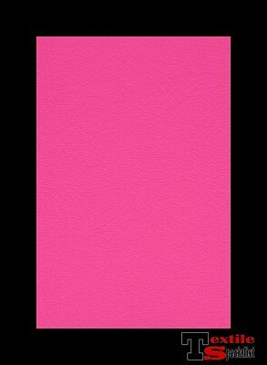 "HOT PINK FAUX LEATHER AUTO UPHOLSTERY FABRIC VINYL 54""W PLEATHER BY THE YARD"