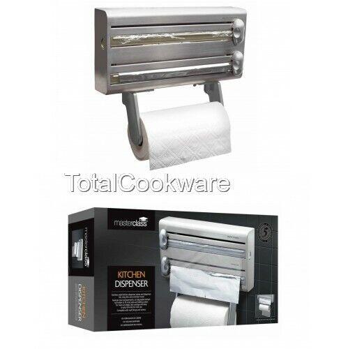 aluminium et Cuisine distributeur de serviettes Masterclass Acier Inoxydable film alimentaire