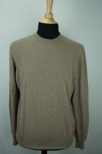 Brunello-Cucinelli-Light-Brown-Orange-Polka-dot-Crewneck-Cotton-Sweater-Sz-52