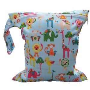 Bebe-Enfant-Impermeable-Fermeture-eclair-Reutilisables-Tissu-Sac-a-langer-WT