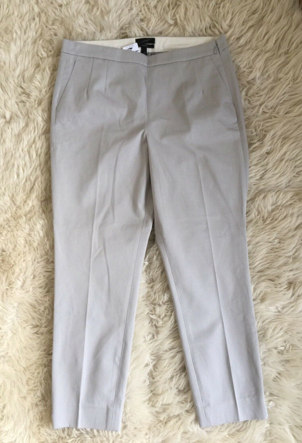 JCrew  Martie pants in bistretch cotton 10 Cloud Grey b8521 Suiting Work NWT