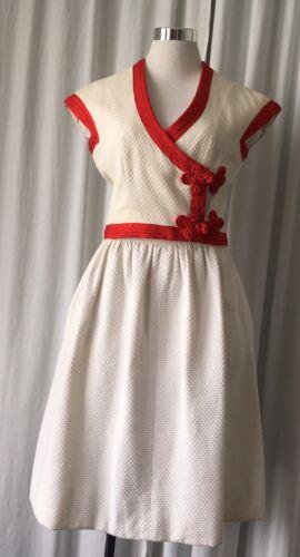 Vintage 70's Josefa Couture White Pique Skirt Set