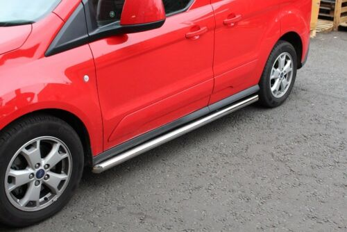 Ford Transit Connect 2014 on Stainless Steel Side Running Bars in Silver 60mm