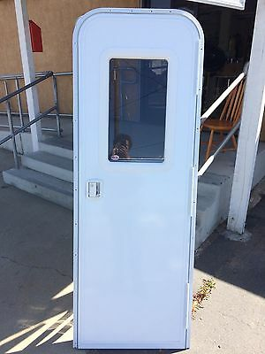 Rv Travel Trailer 5th Wheel Entry Door With Built In