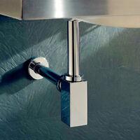 SOLID BRASS Bathroom Basin Sink Tap Bottle Waste Trap Drain Kit - Chrome P-TRAP