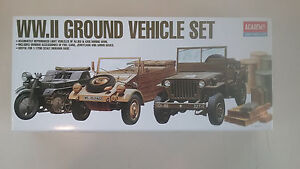 Academy 1310 Ground Vehicle Set Series-I Light Vehicles of Allied /& Axis 1:72