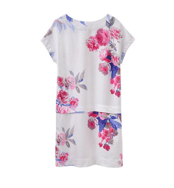 JOULES Dana Short Linen Viscose Dress Sz 10 16 RRP.95 Free UK P&P
