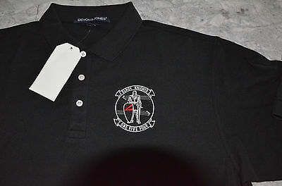 USN VFA-154 VF-154 Black Knights Embroidered Polo Shirt