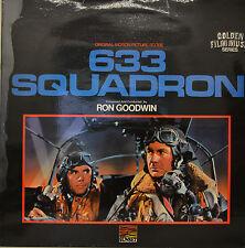 """OST - SOUNDTRACK - 633 SQUADRON - RON GOODWIN  12"""" LP (M970)"""