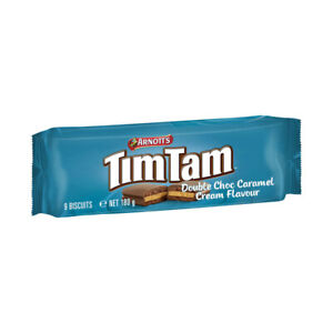 Arnott's Tim Tam Most Voted Double Coat Caramel Chocolate Biscuit 180g