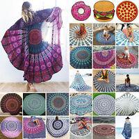 Indian Round Mandala Wall Hanging Beach Boho Throw Tapestry Towel Yoga Mat Decor