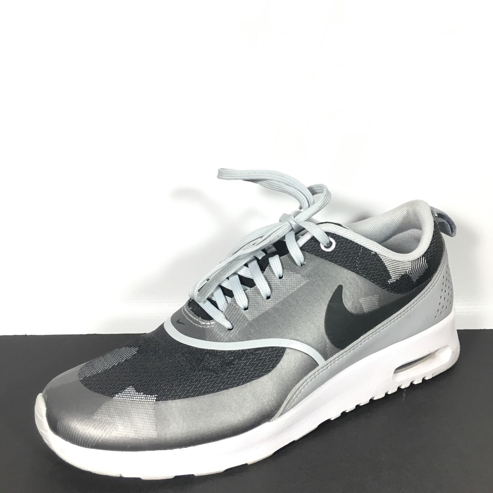 Nike Air Max Thea Women's 8 Pure Platinum Black Grey Athletic Sneakers