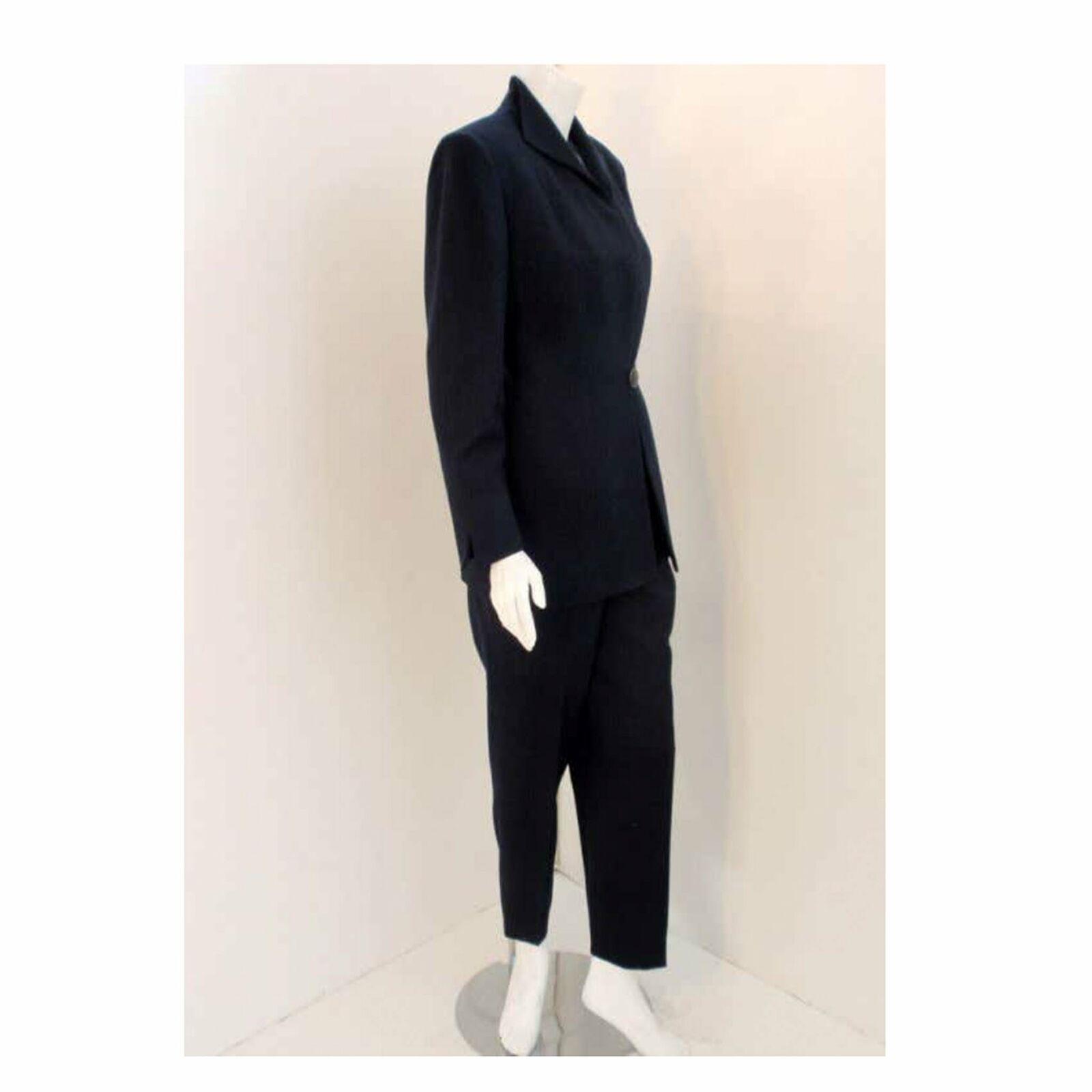 CHRISTIAN DIOR 1980s 2 pc Dark Blue Pant Suit - image 5