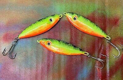 1.5 Oz 1 Firetiger Lake Trout Jigs environ 42.52 g corégone Cisco