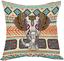 thumbnail 21 - Moslion Indian Horse Cotton Linen Square Decorative Throw Pillow Covers Brown Ho