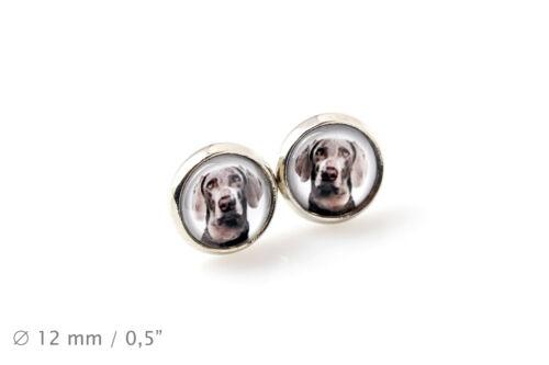 Handmade UK Earrings Pet in your ear Weimaraner Photojewelry