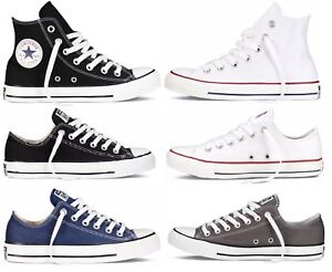 Mens-Unisex-HI-Top-Low-Top-Converse-Shoes-Laceup-in-Black-White-Colours-All-Size