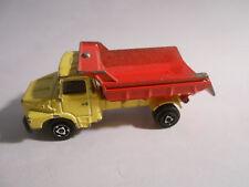 Camion (jaune) Benne (rouge) SCANIA Miniature MAJORETTE 1/100 - VINTAGE 1970's