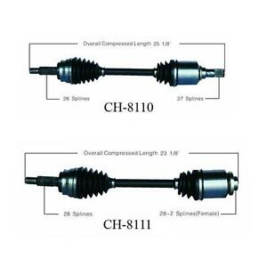 CV Axle Shaft Front Right SurTrack CH-8111