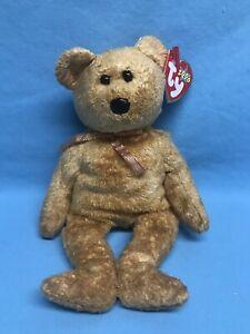 """TY 2000 Beanie Babies CASHEW Bear 9"""" Plush Stuffed Animal Toy ~ NEW"""