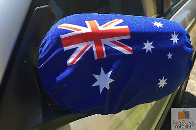 2pcs AUSTRALIA FLAG Car Side Mirror Cover Australia Day Aussie Wing Decoration