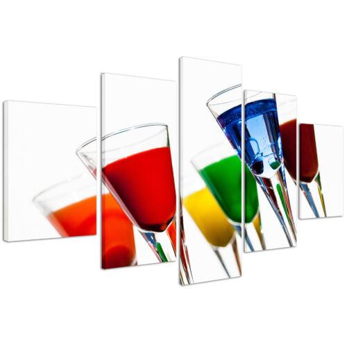 Stampe su Tela 200 x 90 cm Quadri Moderni XXL Cocktail Drink Quadro Bar #224