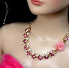 """Rhinestone Necklace and Earring Jewelry Set for 22"""" Tonner Tyler doll 016C"""