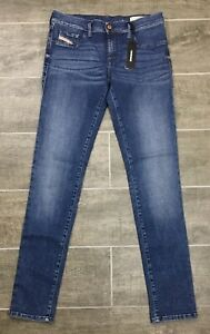 Diesel-Women-039-s-Jeans-Livier-RI806-Super-Slim-Jeggings-Blue-NWT
