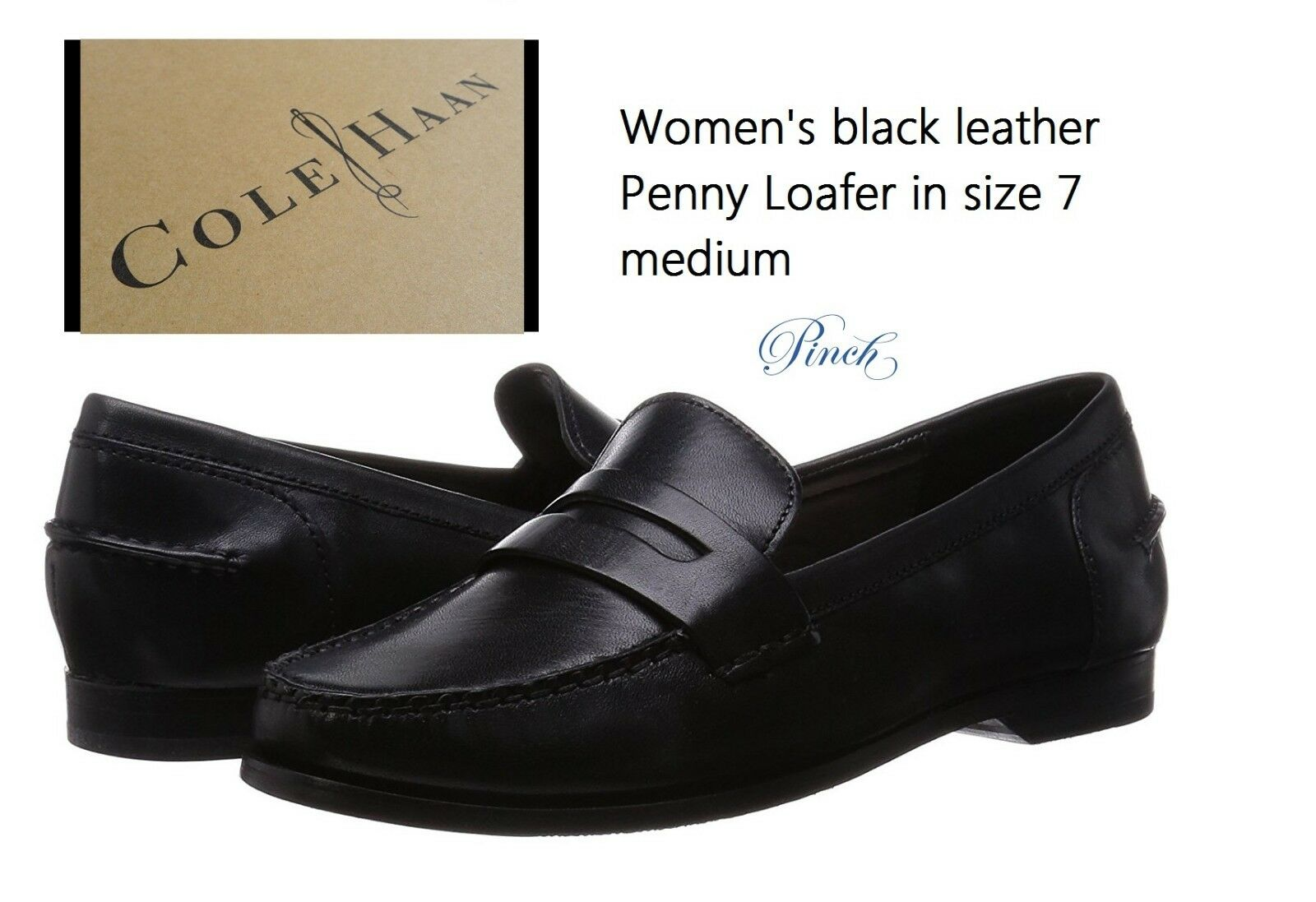 Cole Haan Women's size 7M Pinch Grand Penny Loafer Loafer Penny GRAND.OS technology Black NIB 4b50fd
