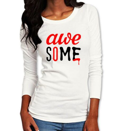 Awesome Long Sleeve Woman/'s Graphic Print T-Shirt