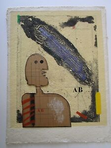 JAMES-COIGNARD-MIXED-MEDIUM-PRINT-PAINTING-COLLAGE-MODERNISM-ABSTRACT-VINTAGE