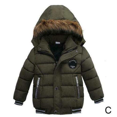 Kinder Junge Mädchen Unten Jacke Winter Tuch Warme Mantel Oberbekleidung W3X0