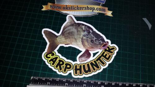 Carpa pesca HUNTER autoadesivo, Full Colour Esche, Esca, Pesca Sportiva, Crafty Crew BASSO