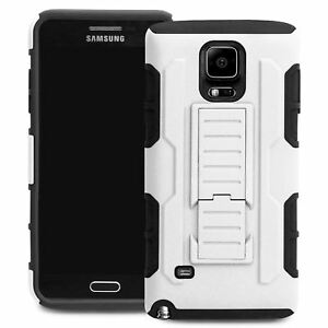 quality design 4175b 59eed Details about Protective Heavy Duty Case For Samsung GALAXY Note 4 Future  Armor Cover White