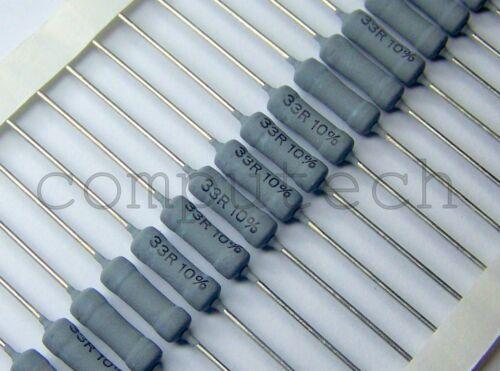 5 pezzi Resistenza a filo avvolto 33 Ohm 3W 33R Vishay Draloric Z302-C00