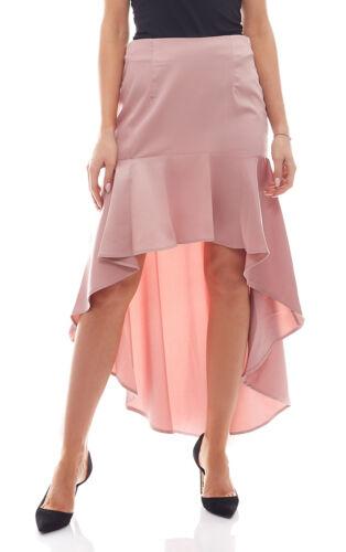 NA-KD Fashion x Qontrast Minirock Vokuhilastyle asymmetrischer Rüschen-Rock Rosa